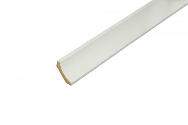 Hohlkehlleiste Kiefer - astfrei weiß lackiert