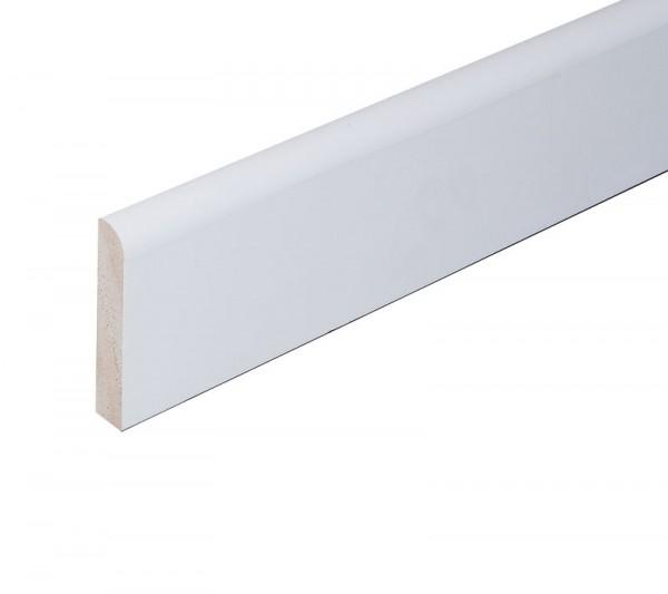 Flachleiste Nadelholz - weiß lackiert